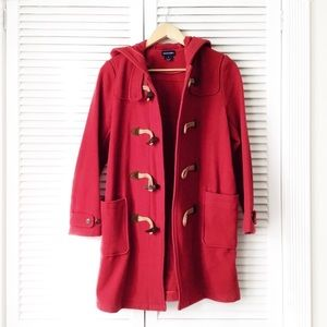Ralph Lauren Red Hooded Toggle Peacoat NWOT